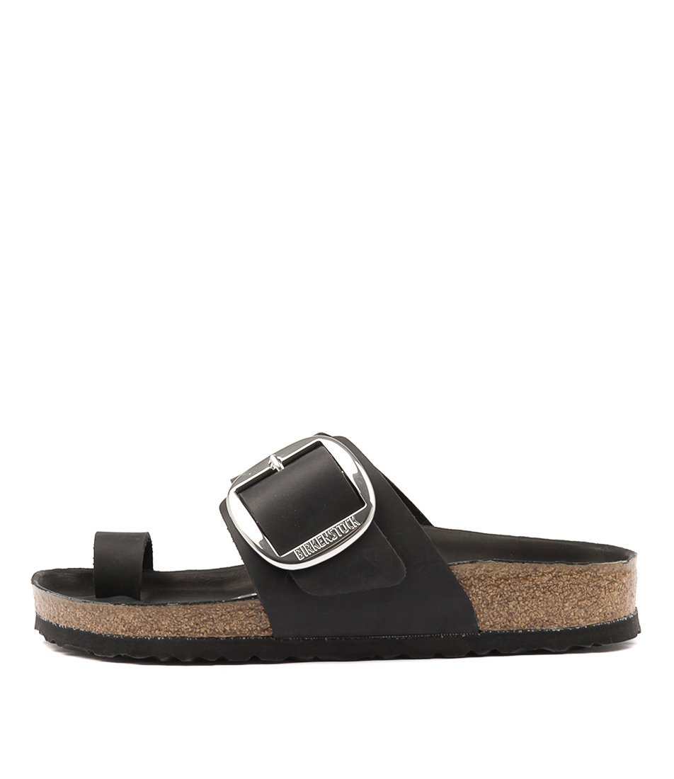 442a50e567eb MIRAMAR BIG BUCKLE NARROW BLACK OIL LEATHER by BIRKENSTOCK - at Styletread