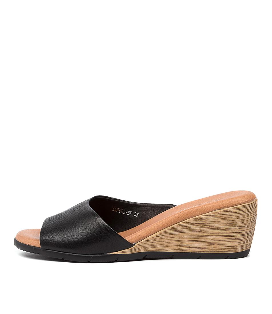 Delisa Df Black Black Heel Leather by Diana Ferrari