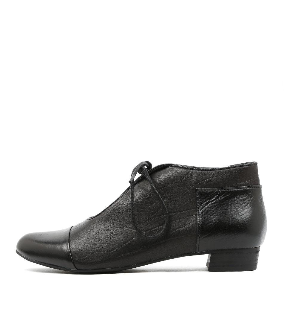 Black sandals melbourne - Django Juliette Elista Black Metallic Black Leather Leather