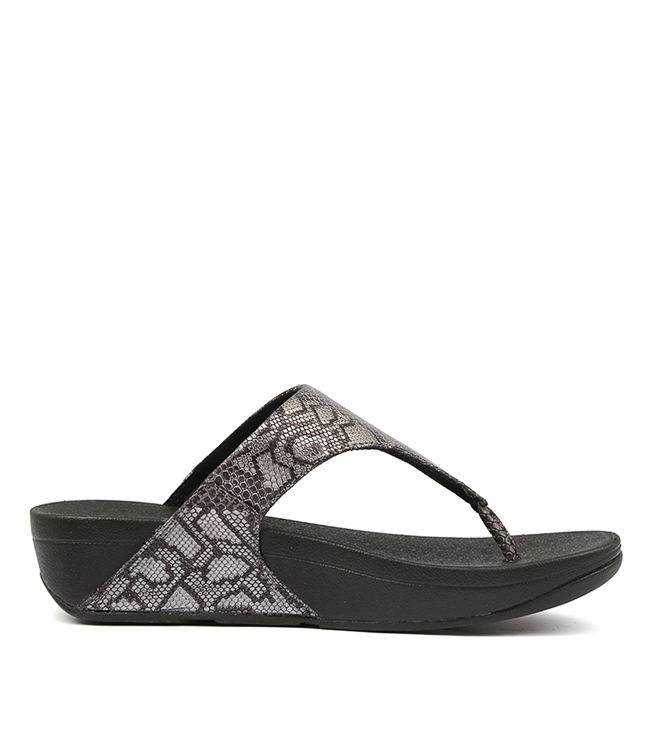 ff53d0701 EXOTIC LULU TOE THONG BLACK LEATHER by FITFLOP - at Styletread NZ