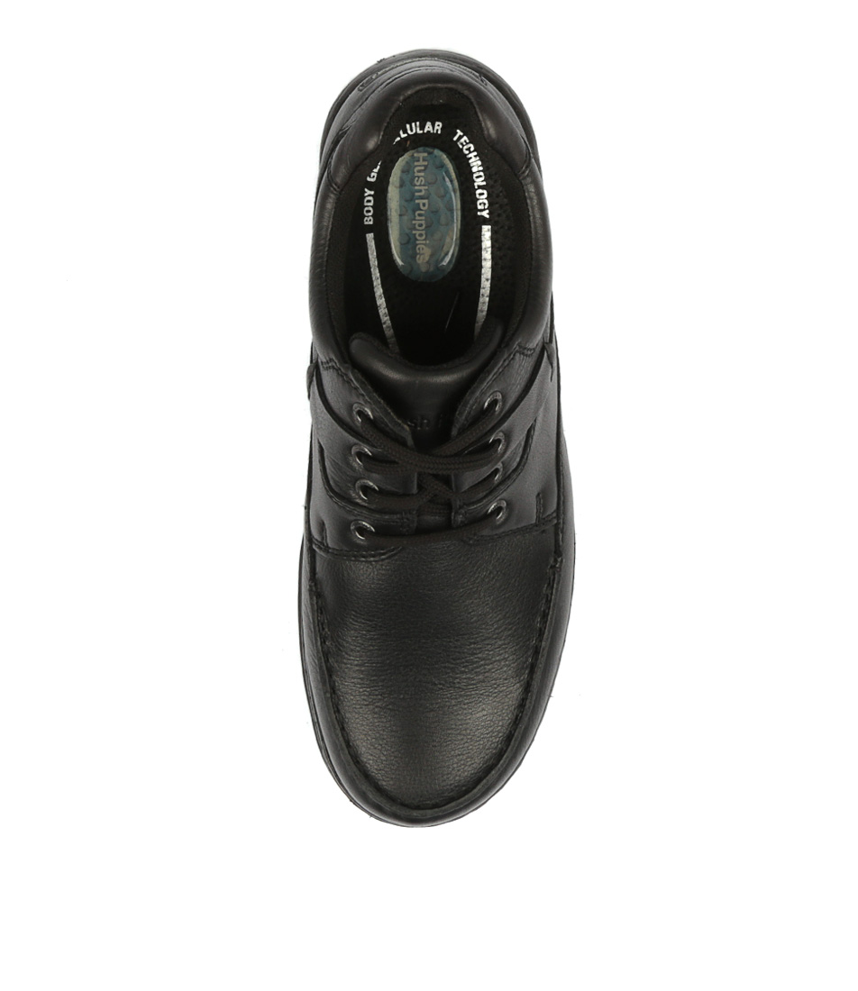 7a2a264f75b6 RANDALL II BLACK LEATHER by HUSH PUPPIES - at Mountfords