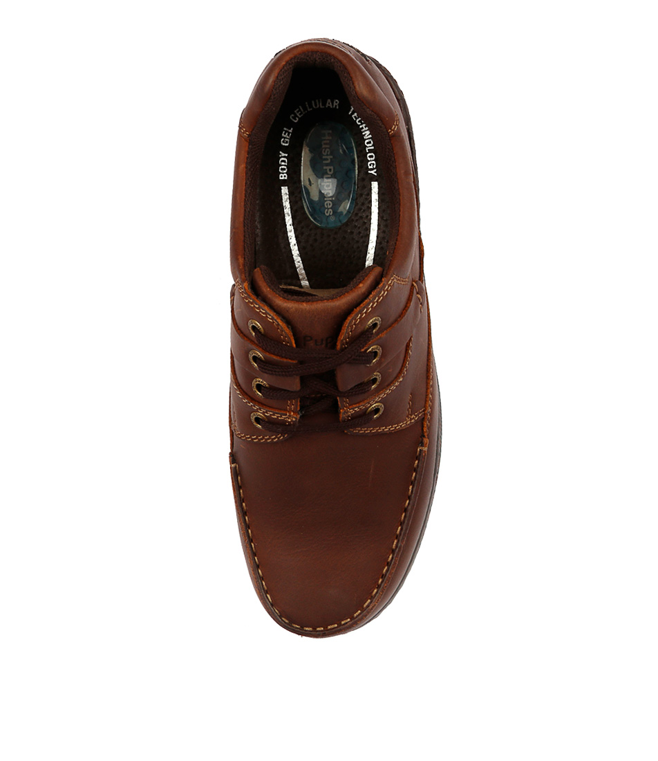 589c5e1da593 RANDALL II BROWN LEATHER by HUSH PUPPIES - at Mountfords