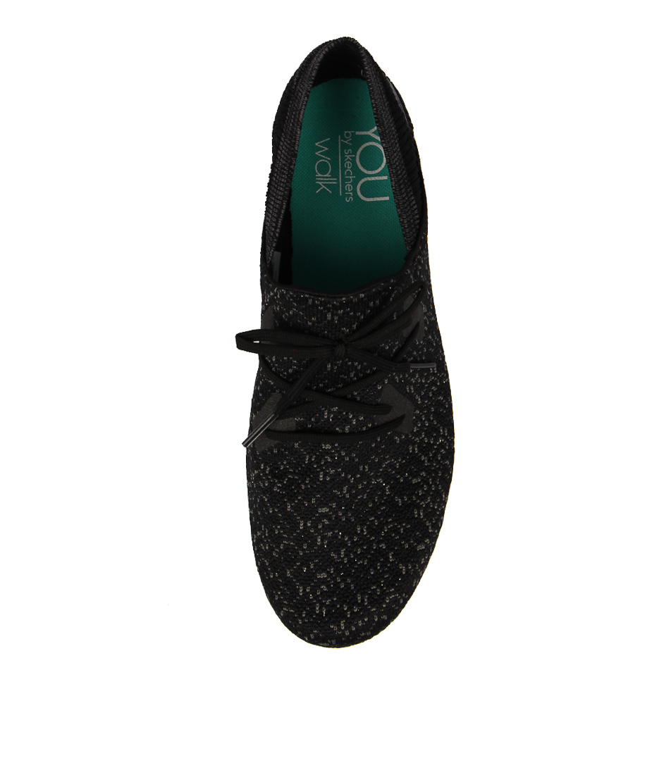 9b58ed2f2d7e YOU EXHALE BLACK WHITE MESH by YOU BY SKECHERS - at Styletread