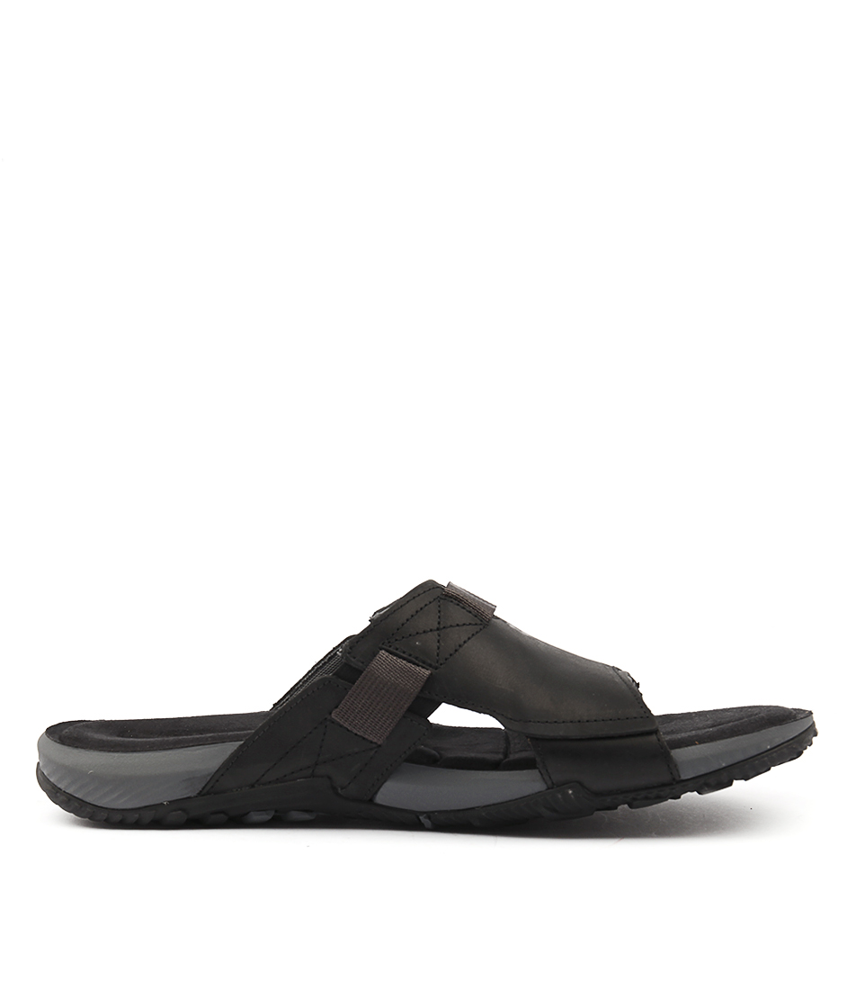 d8faaf747d2 TERRANT SLIDE BLACK LEATHER by MERRELL - at Styletread