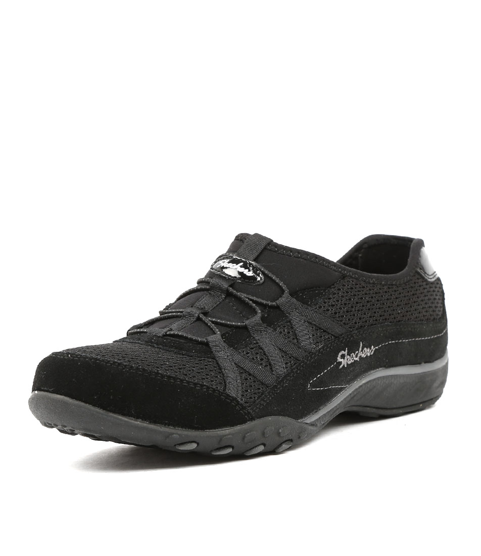 7cfd05e14eea 22463 BREATHE EASY RELAXATION BLACK FABRIC by SKECHERS - at Mountfords
